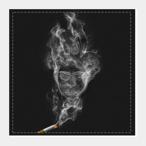 The Cigarette is Smoking You! Square Art Prints | Artist : kapil Verma