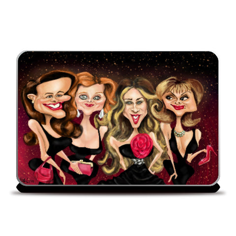 Laptop Skins, Caricature - Sex and the City Cast Laptop Skin | Kaleidostrokes - Leena Swamy, - PosterGully