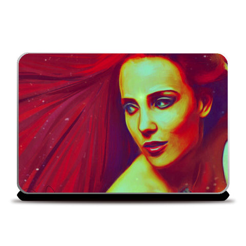 Lady in Red Laptop Skins | Artist : Delusion