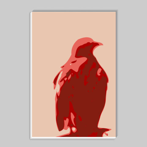 Abstract eagle red Stick Ons | Artist : Keshava Shukla