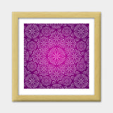 Abstract Flowers Premium Square Italian Wooden Frames | Artist : Madhumita Mukherjee