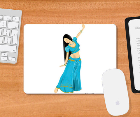 Mousepad, Woman Dancing Mousepad | Artist : Deepak NT, - PosterGully