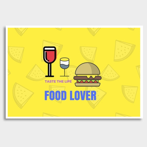 Food Lover Giant Poster | Artist : Pallavi Rawal
