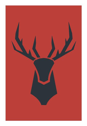 PosterGully Specials, Stag Deer Wall Art | Artist : Vibhu Agrawal | PosterGully Specials, - PosterGully
