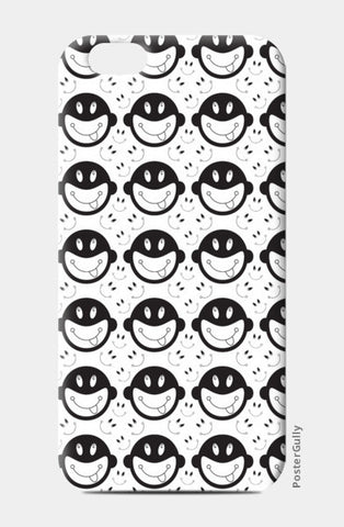Monkey tongue out on black and white iPhone 6/6S Cases | Artist : Designerchennai