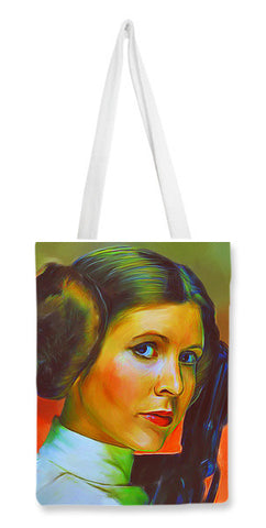 Carrie Fisher Tote Bags | Artist : Delusion