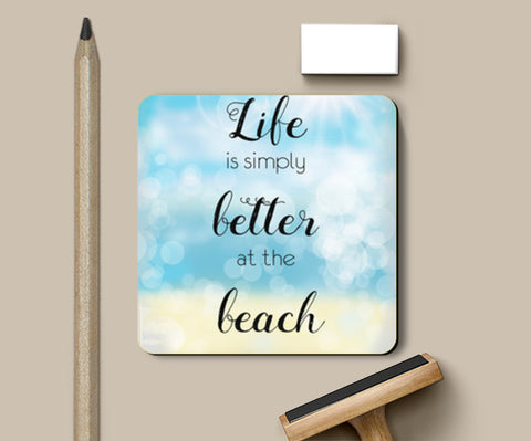 PosterGully Coasters, Life at beach Coasters | Artist : Not Just Doodle, - PosterGully