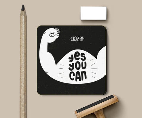 Yes You Can Coasters | Artist : Inderpreet Singh