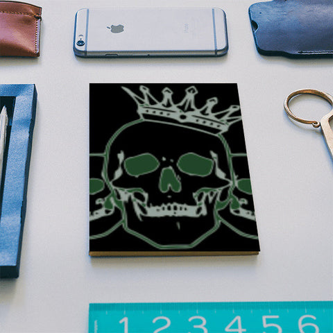 three skull budddies Notebook | Artist : alex biersack