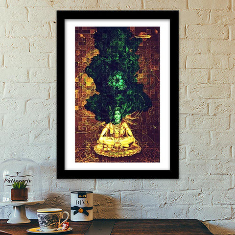 Shiva in, Shiva out 2 Premium Italian Wooden Frames | Artist : Rockpire Designs