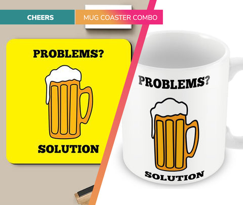 Cheers | Mug Coaster Set