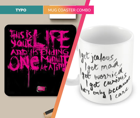 Typographic | Mug Coaster Set