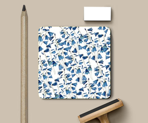Coasters, Blue Floral Background  Coasters | Artist : Seema Hooda, - PosterGully