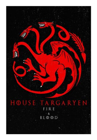PosterGully Specials, House Targaryen | Game Of Thrones Wall Art | Artist : Gurmeet | PosterGully Specials, - PosterGully