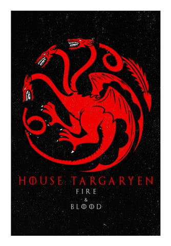 Wall Art, House Targaryen - Game Of Thrones Wall Art | Artist : Gurmeet, - PosterGully