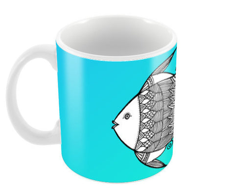 Fish Patterns Coffee Mugs | Artist : Amulya Jayapal