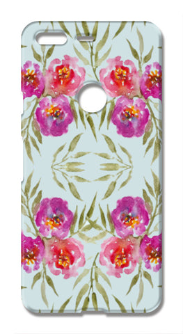 Abstract Watercolor Roses Pretty Floral Pattern Google Pixel XL Cases | Artist : Seema Hooda