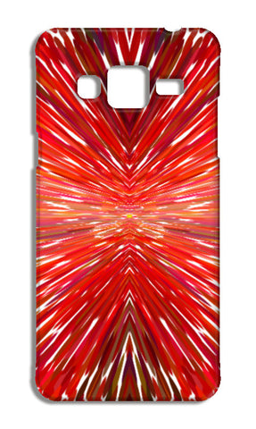 Abstract Red Burst Modern Design Samsung Galaxy J3 2016 Cases | Artist : Seema Hooda