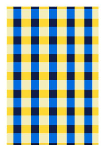 PosterGully Specials, Blue square pattern Wall Art | Artist : Designerchennai, - PosterGully