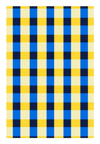 Blue Square Pattern Art PosterGully Specials