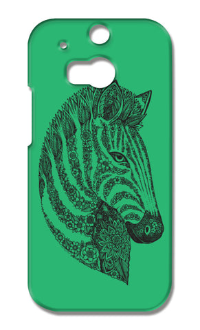 Floral Zebra Head HTC One M8 Cases | Artist : Inderpreet Singh