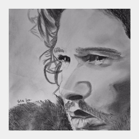 Square Art Prints, Jon Snow Game of thrones Square Art | Artist: Pritika Uppal, - PosterGully