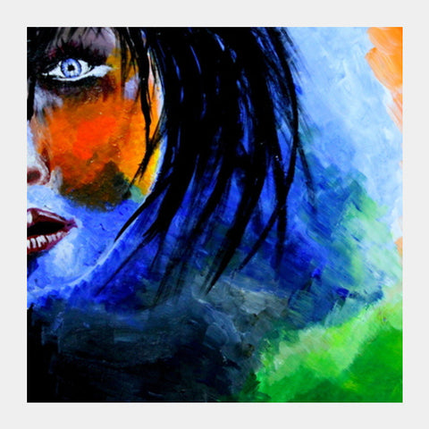 Her  Mother India  Woman Painting Square Art Prints PosterGully Specials