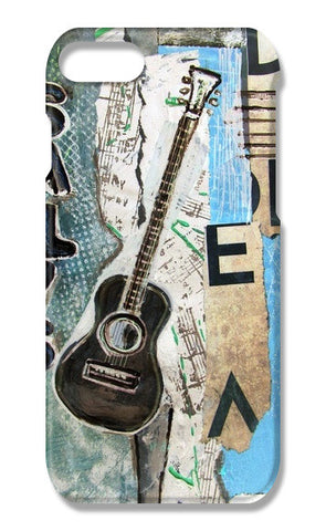 salys guitar iPhone 7 Cases | Artist : Raji Chacko classic paintings