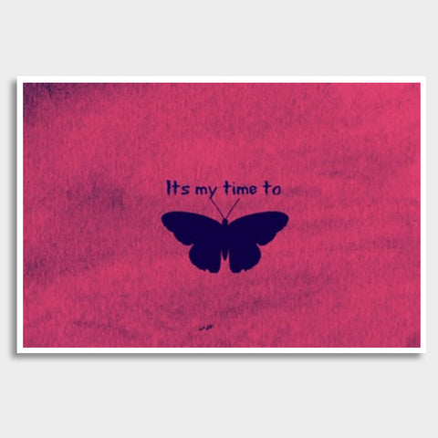 Its my time to butterfly Giant Poster | Artist : Pallavi Rawal