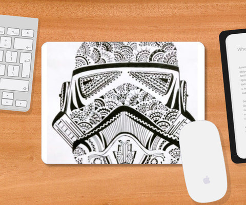storm trooper Mousepad | Artist : All the randomness