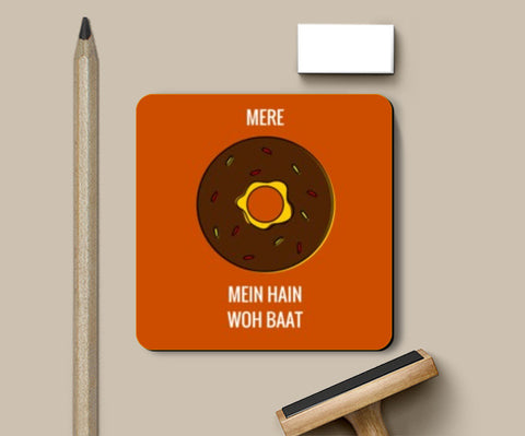Coasters, Mere doughnut / donut mein hain woh baat |  Coasters | Artist : Nikhil Wad, - PosterGully