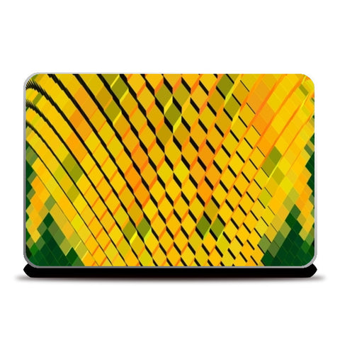 Laptop Skins, Yellow 3D Blocks Laptop Skins | Artist : CK GANDHI, - PosterGully