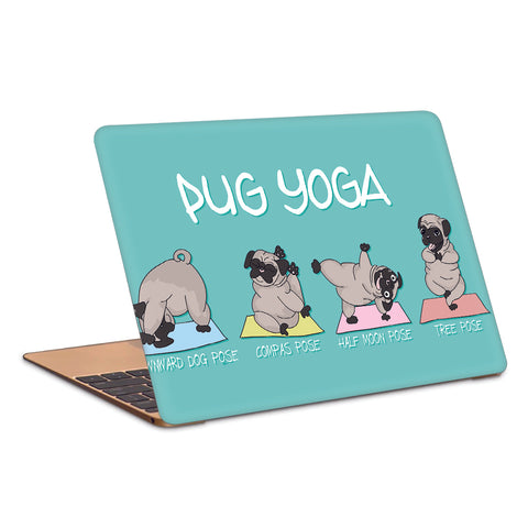 Pug Yoga Laptop Skin