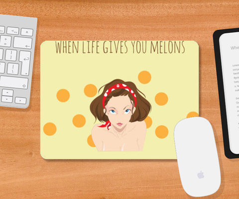 Mousepad, When life gives you melons Mousepad | Artist : Soumyajyoti Dey, - PosterGully