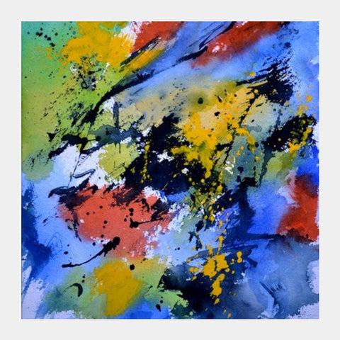 Square Art Prints, A colourful gust of wind Square Art Prints | Artist : pol ledent, - PosterGully