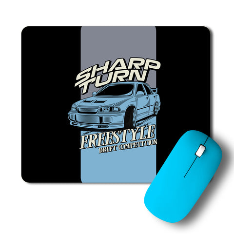 Sharp Turn Freestyle Car Artwork Mousepad