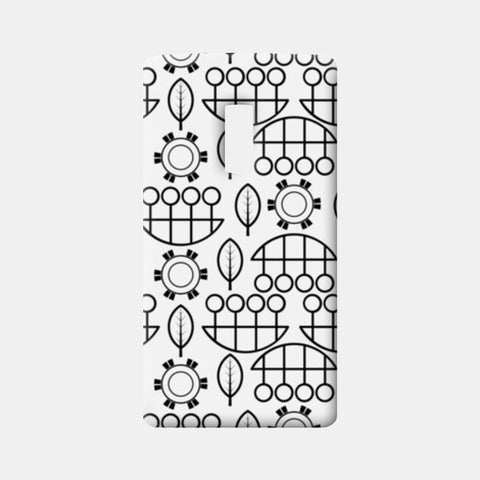Black and white design vector pattern One Plus Two Cases | Artist : Designerchennai