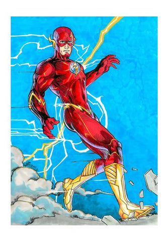 PosterGully Specials, The Flash - Fan art Wall Art | Artist : Monisha Miriam, - PosterGully