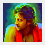Square Art Prints, Hrithik Square Art | Artist : Divakar Singh, - PosterGully