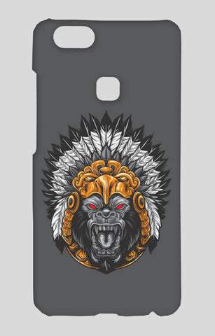 Gorilla Wearing Aztec Headdress Vivo V7 Plus Cases | Artist : Inderpreet Singh