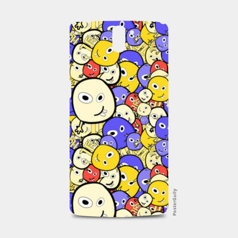 Doodle cartoon characters  One Plus One Cases | Artist : Designerchennai