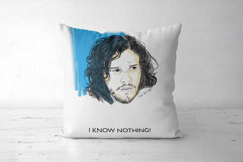 Jon Snow Knows Nothing Cushion Cover | Artist: Tridib Das