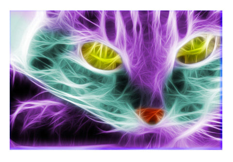 Wall Art, Neon Cat Wall Art  | Artist : Madhumita Mukherjee, - PosterGully