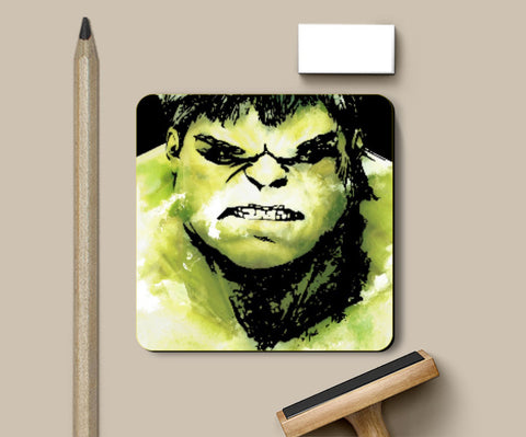 Coasters, The Incredible Hulk Movie Comic Character Coaster Artwork | Artist: Pulkit Taneja, - PosterGully