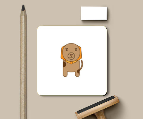 Brown doggy Coasters | Artist : Mani Selvam
