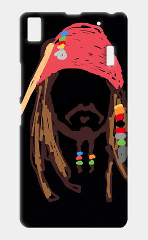 Jack Sparrow Pirates Of The Caribbean Minimal Doodle Lenovo A7000 Cases | Artist : Praband