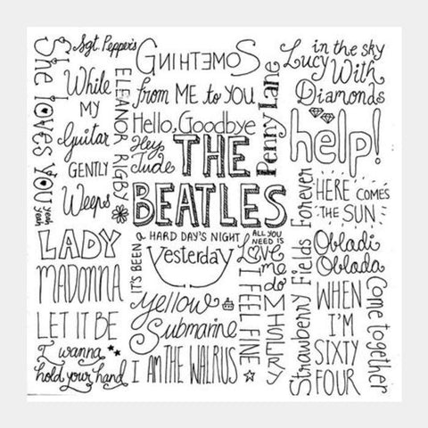 Beatles Typography Square Art Prints PosterGully Specials
