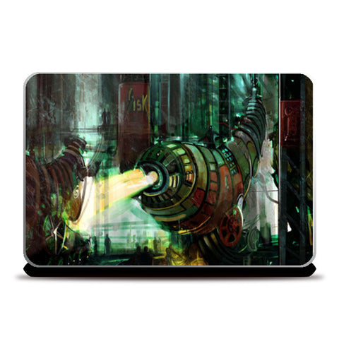 Laptop Machine Factory Laptop Skins | Artist : Rajat Pandit