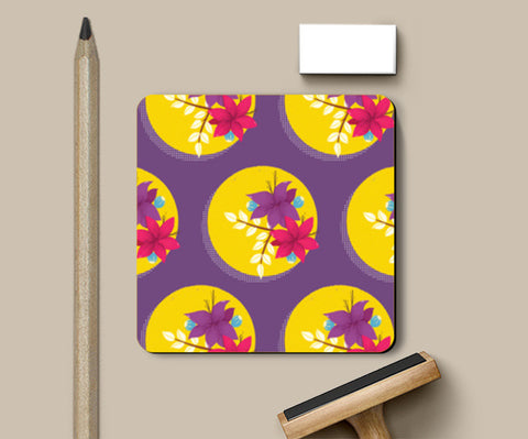 Coasters, Flower Power (Purple) Coasters | Artist : Tanvi C, - PosterGully