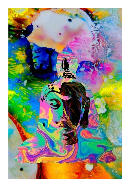 The Buddha Pop Wall Art Artist Tiny Dots Postergully